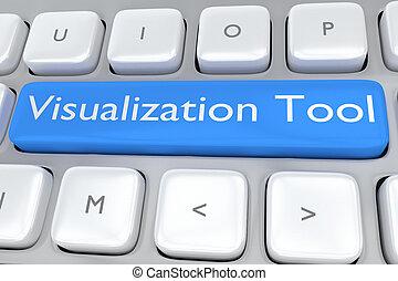 visualisation, outillage, concept