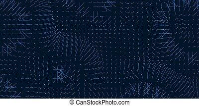 visualisation, representation., direction., science, magnétique, couler, grandeur, ou, chart., champ, vecteur, fluctuations, forces., interaction., arows, gravitational, toile de fond, matrice