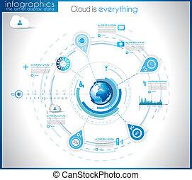 visualização, infographic, dados, modelo, estatística