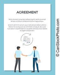 visualização, vetorial, acordo, ilustração, cartaz