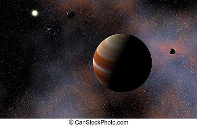 visualización, cósmico
