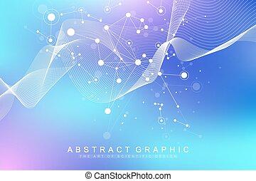visualization., molekül, atom, groß, flow., -, oder, ...