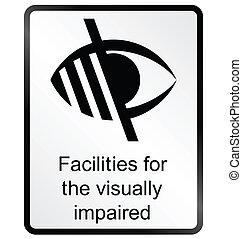 visualmente, segno, indebolito, informazioni