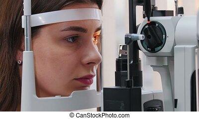 visueel, lippen, optometrie, controleren, oogheelkunde,...