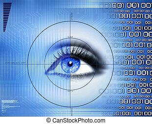 visuell, teknologi