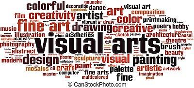 visuelle künste, wort, wolke