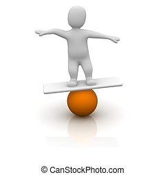 viszonoz, illustration., kiegyensúlyozott, narancs, 3,...