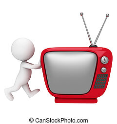 vit, 3, television, folk