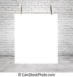 vit, affisch