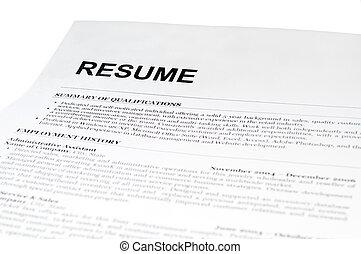 vit, bilda, resume