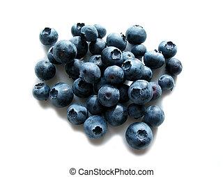 vit, blåbär
