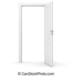 vit, dörr, bakgrund, 3