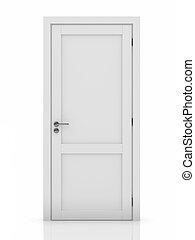 vit, dörr