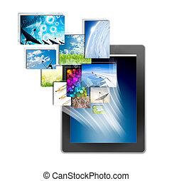 vit fond, skrivblock persondator, isolerat