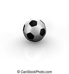 vit, fotboll bal, 3