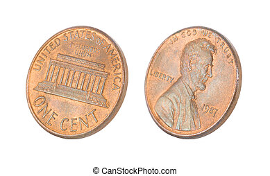 vit, isolerat, penny