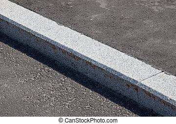 vit, kindkedja, asfaltroad