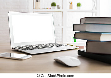 vit,  laptop, sida