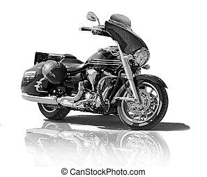 vit, motorcykel, bakgrund