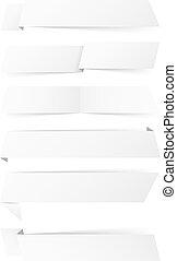 vit, papper, baner