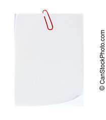 vit, papper