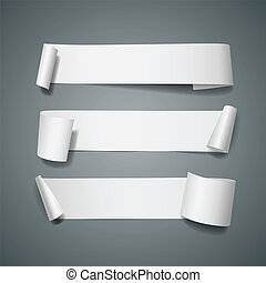 vit, papper, samlingar, rulle, länge