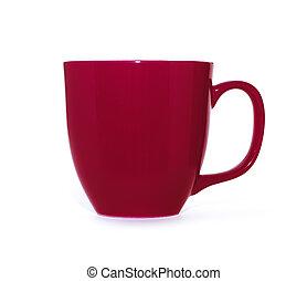 vit röd, bakgrund, kopp