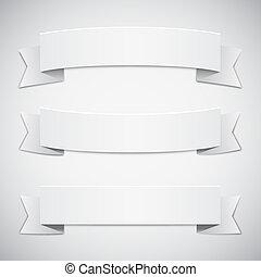 vit, remsor, baner