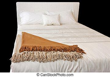 vit, säng