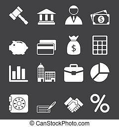 vit, sätta, affärsverksamhet ikon