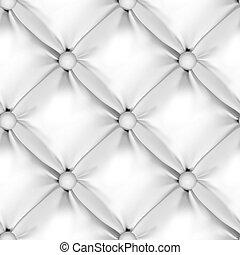 vit, seamless, nappa stoppning, mönster