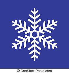 vit snöflinga