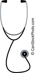 vit, stetoskop, isolerat, doktorn