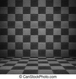vit, svart, lyxvara, rum