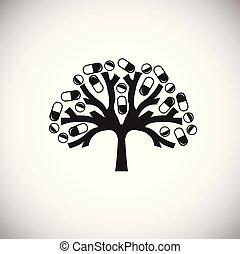 vit, träd, biljard, bakgrund