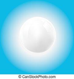 vit, vektor, boll