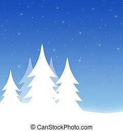 vit, vinter