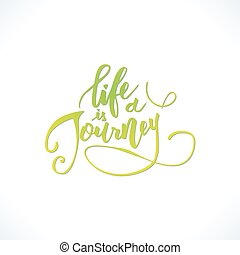 vita, è, uno, journey.