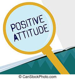 vita, buono, affari, essendo, cose, esposizione, scrittura, dall'aspetto, concettuale, ottimistico, mano, foto, showcasing, attitude., positivo
