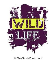 vita, citazione, -, tshirt, disegno, selvatico