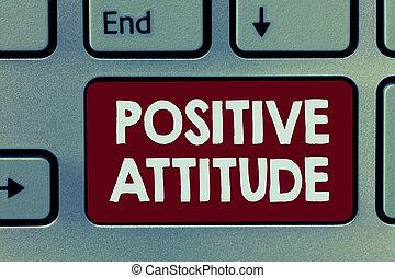 vita, concetto, essendo, cose, dall'aspetto, significato, buono, ottimistico, testo, scrittura, attitude., positivo