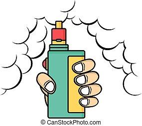 vita, elettrico, vape, -, sigaretta, mod, vapore,...