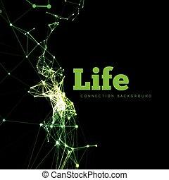 vita, illustrazione, vettore