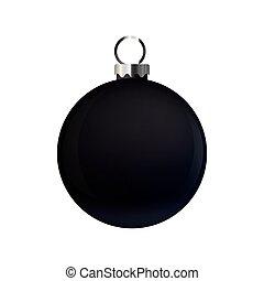 vita kula, svart fond