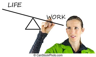 vita, lavoro, equilibratura, privato