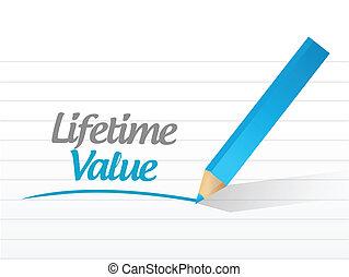 vita, messaggio, disegno, valore, illustrazione