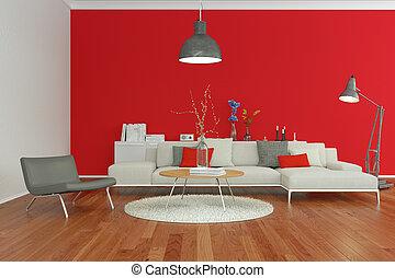 Amazing Parete Rossa Soggiorno Pictures - Carolineskywalker.com ...