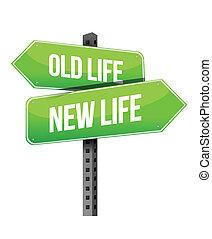 vita nuova, vecchio, segno