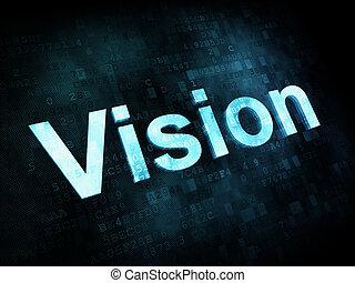 vita, schermo, stile, visione, parole, digitale, concept:, ...