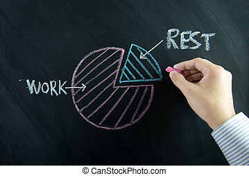 vita, squilibrio, lavorativo